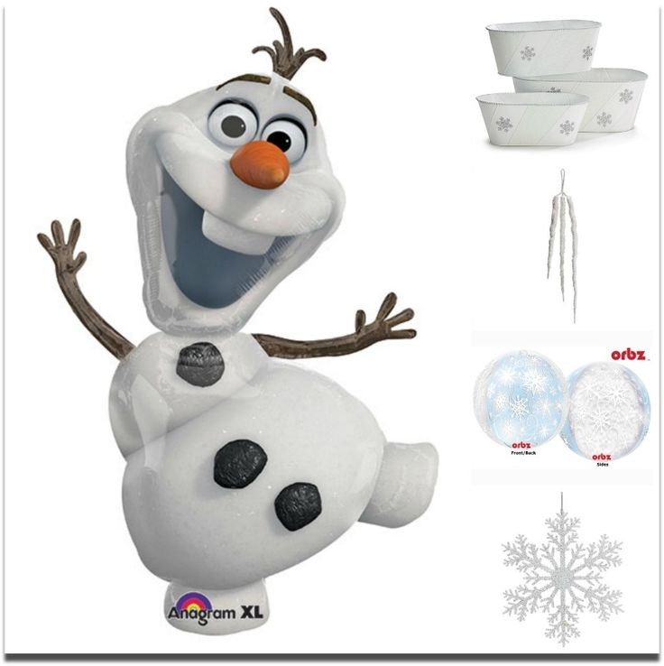 #Olaf loves to party! #frozen #snowman #snowflakes
