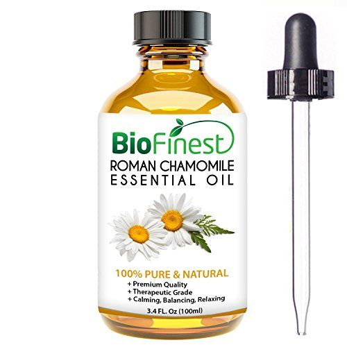 awesome BioFinest Roman Chamomile Oil - 100% Pure Roman Chamomile Essential Oil - Premium Organic - Therapeutic Grade - Aromatherapy - Ease Stress - Long Restful Sleep - FREE E-Book and Dropper (100ml)