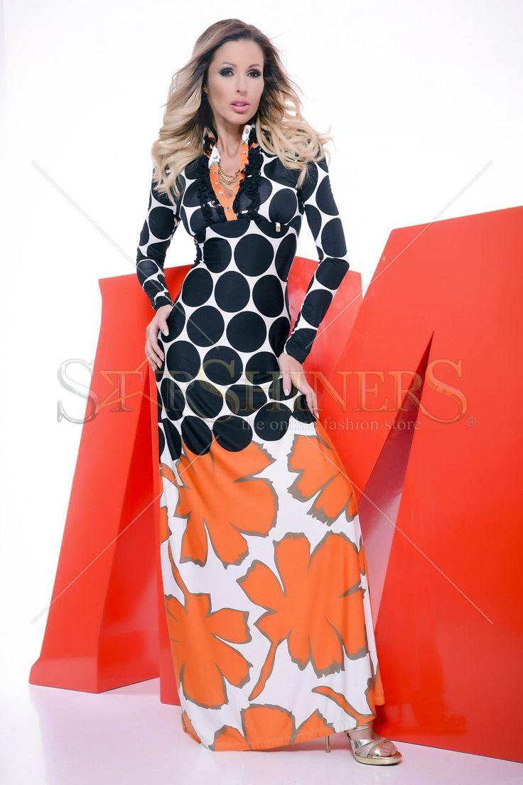MissQ Bold Hearted Orange Dress