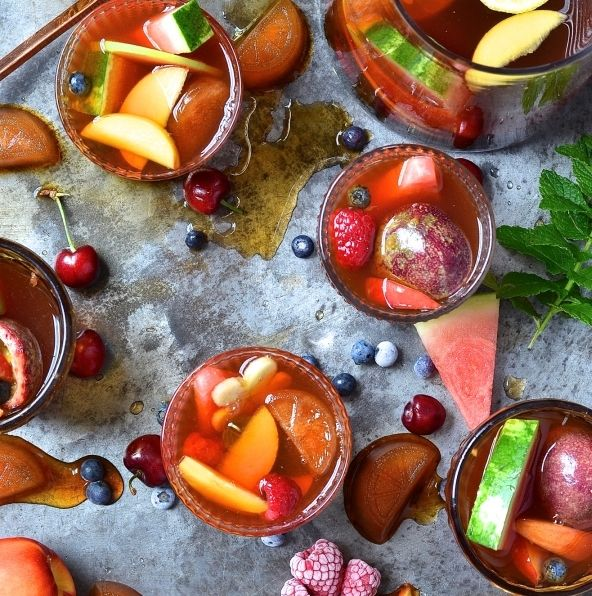Make your own funky drinks with this recipe for Rooibos Mocktails Ingredients 6 Freshpak watermelon and mint tea bags 1 litre boiling water 3 tablespoons orange blossom honey 1 litre […]
