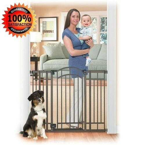 hardware mounted baby gate pet extra wide dog gates for the house swing door