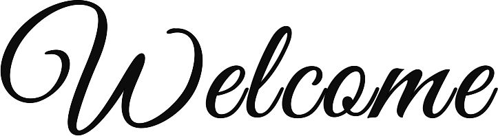 """Welcome"" stencil from Rapid Resizer's free stencil maker: http://RapidResizer.com/stencil"
