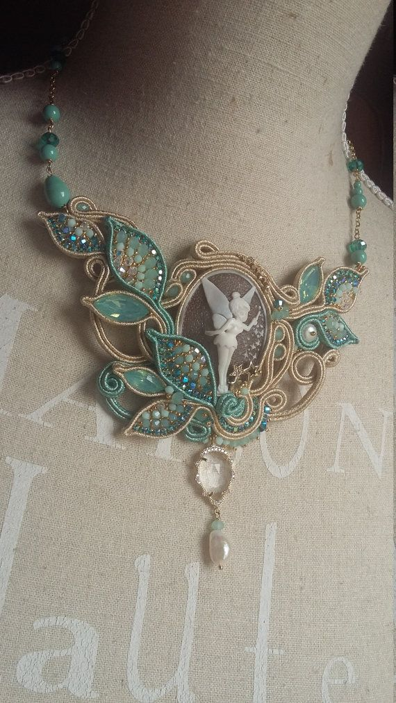 Thinkerbell SOUTACHE NECKLACE OOAK necklace by ElianaManieroJewels