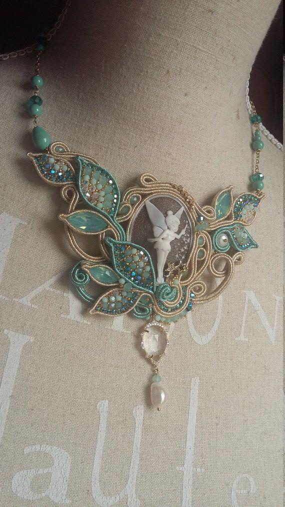 Thinkerbell SOUTACHE NECKLACE OOAK necklace by ElianaManieroJewels