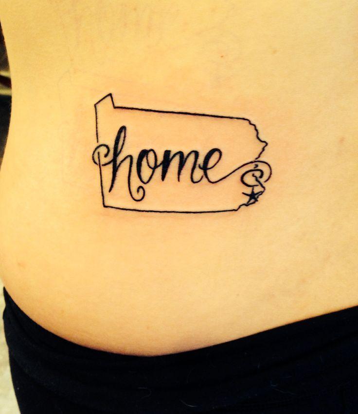 PA. Pennsylvania tattoo. Home state. Love Philadelphia! Kidney ink.