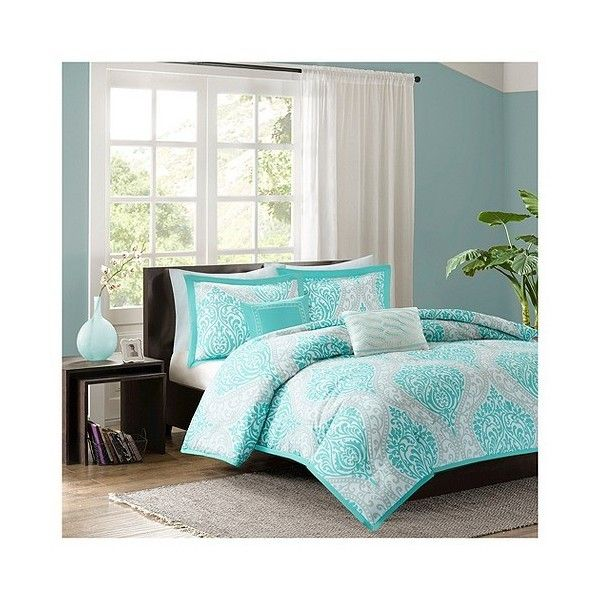 Chelsea Duvet Cover Set 68 Liked On Polyvore Featuring Home Bed Bath Bedding Duvet Covers Blue C Comforter Sets Soft Comforter Set Duvet Cover Sets