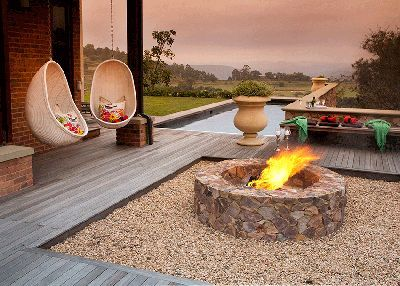 Social fire firepit and outdoor living space