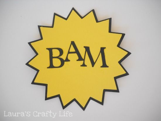 Lauras Crafty Life: How To: Super Hero Action Word Signs