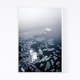 Noir Gallery Baltic Sea Finland Winter Ice Framed Art Print (16 x 20 – White)