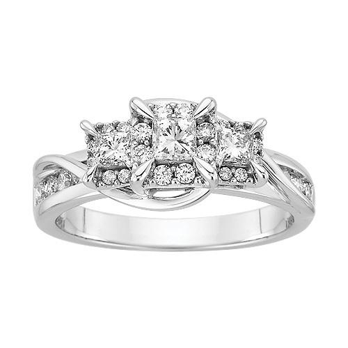 Cute Fred Meyer Jewelers ct tw Dimaond Three Stone Anniversary Ring