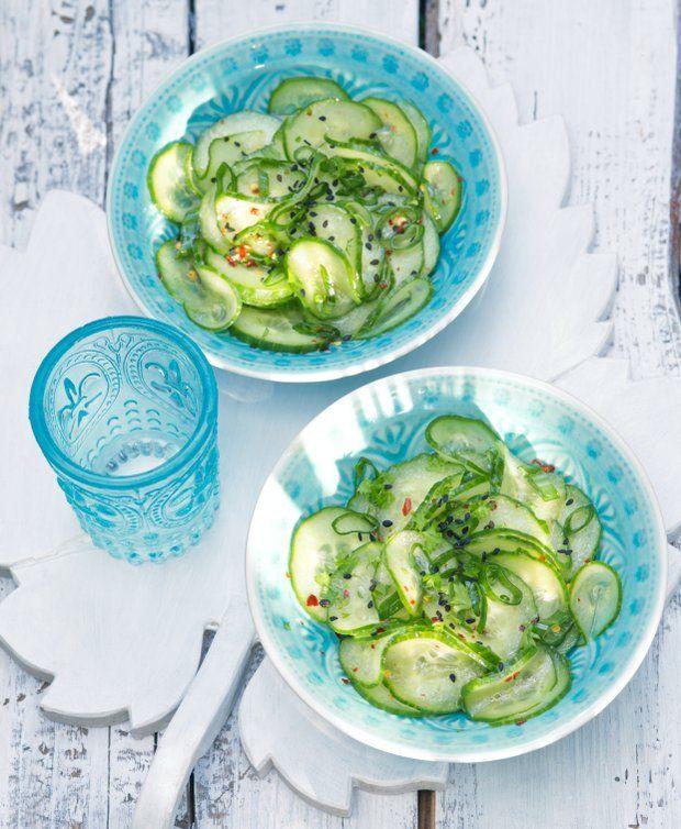 Asijský okurkový salát , Foto: L.A. CREATIVE FOOD