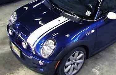 """Mini Cooper 8"""" Offset Rally Racing Stripes Decals Decal 