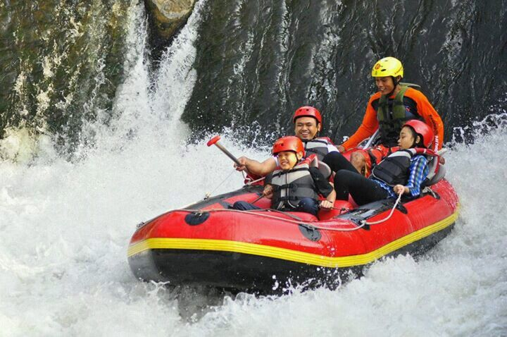 Kasembon rafting at Malang, Indonesia