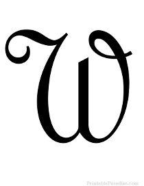 Cursive Letter W