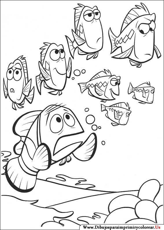 Mejores 17 im genes de buscando a nemo en pinterest for Pesce nemo da colorare