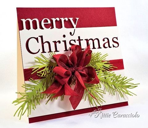 Image result for cards made using Memory Box Grand Happy Christmas