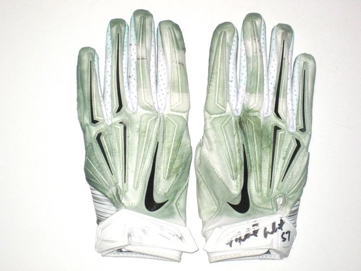 Michael Wilhoite San Francisco 49ers Game Worn & Signed Nike Gloves