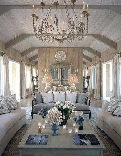 Elegant Living And Dining Room Ideas: Elegant Coastal Living Room Furniture Florida Real Estate