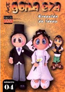 Fofuchas, arte en Goma Eva, boda de fufuchos.