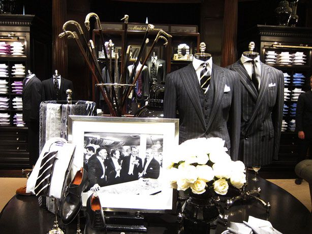Walking sticks with beautiful silver handles Polo Mansion NYC - Ralph Lauren Rhinelander Mansion