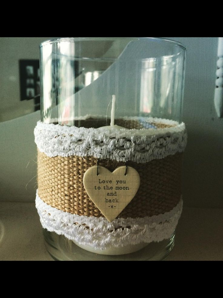 Made from a Yankee candle jar