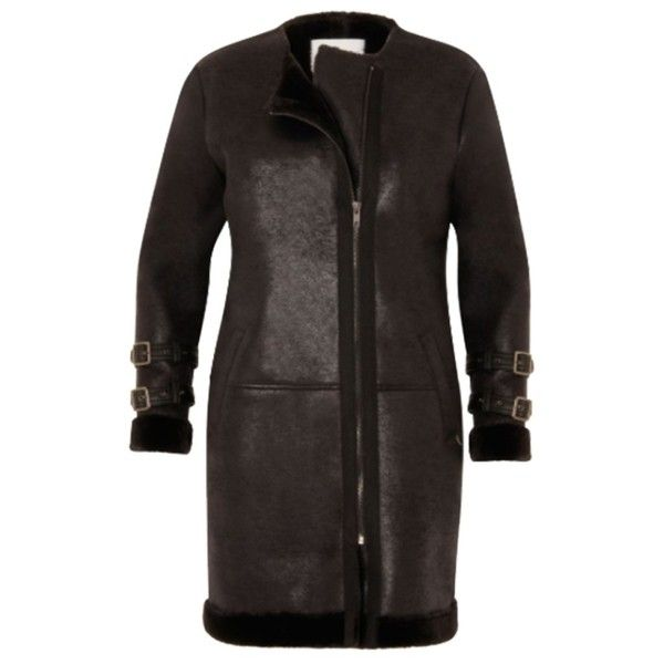 Faux Suede Coat (£259) ❤ liked on Polyvore featuring outerwear, coats, faux fur lined suede coat, faux coat, faux suede coat, faux fur lining coat and faux fur lined coat