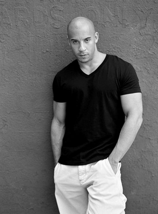 Bald is uber sexy! Vin Diesel, you're one hot dude!!! - http://rosie2010.hubpages.com/hub/Hairstyles-for-Men-with-Balding-Hair-Style-Cuts-Trends