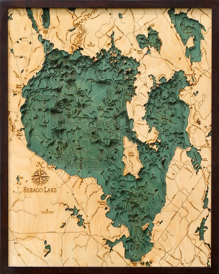 Bathymetric Map of Sebago Lake Extremely accurate