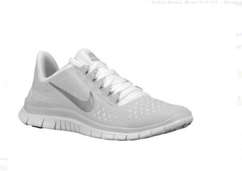 womens nike running shoes - nike free run 4.0 v3 black&white supremacist