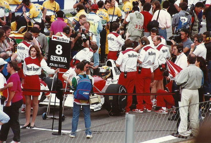 1993 Spanish Grand Prix - McLaren driver Ayrton Senna