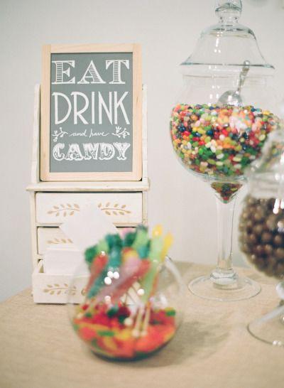 Um candy bar deixa seu grande dia mais doce e criativo.