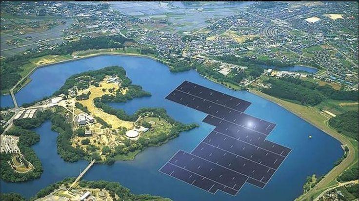 Japón y Corea del Sur crean centrales solares en pantanos