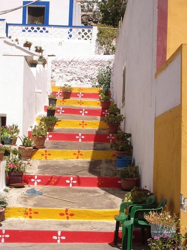 Le scale per arrivare a casa
