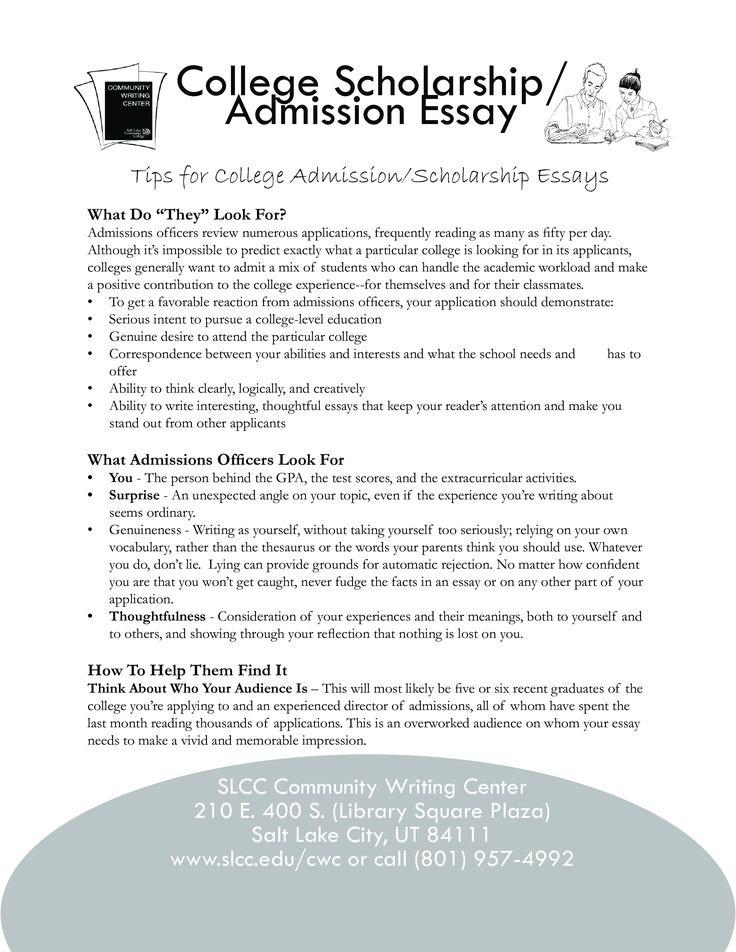 Customized admission essays