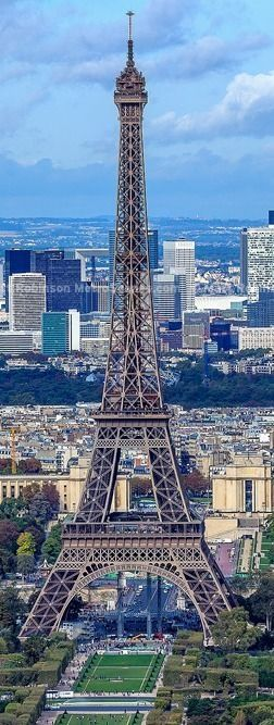 Eiffel Tower and La Defense from Montparnasse.