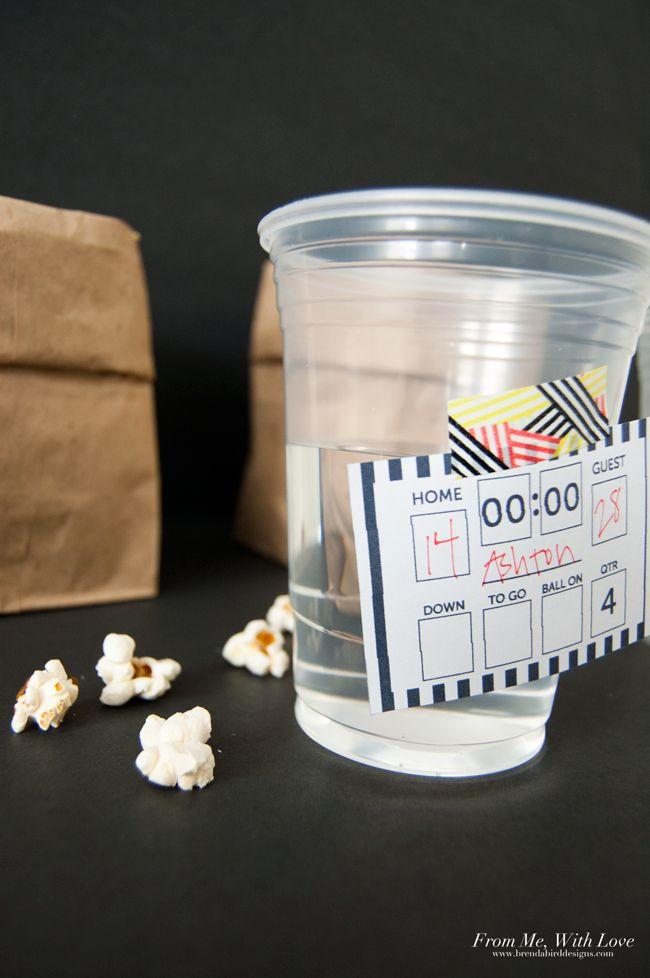 Super Bowl Drink Tags - free printable