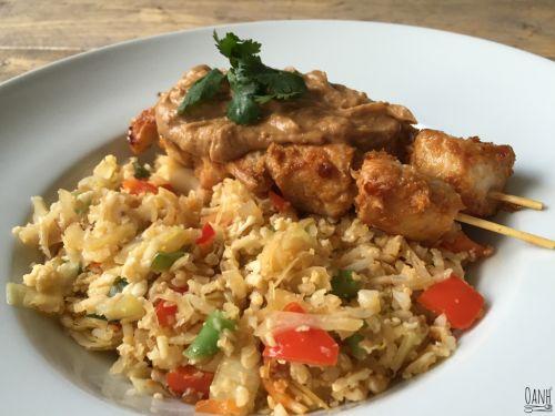 Vanavond is het tijd voor nasi! En uiteraard met heerlijke satésaus en kipsaté spiezen Heerlijk! Ingrediënten 4 personen: 10.5khd per persoon 1 bloemkool 1/6 ui 1 teentje knoflook 1/6 witte kool 1…