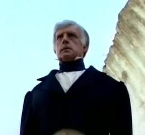 Myrat playing the role of Ioannis Kapodistrias, the first Governor of Greece, at the movie 'The Trial of the Judges' [1974]