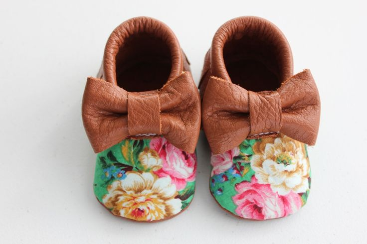 Floral bow moccs  baby toddler moccasins clothes shoes baby shower ideas  baby food maternity baby girl announcement milestones breastfeeding 1st birthday first birthday