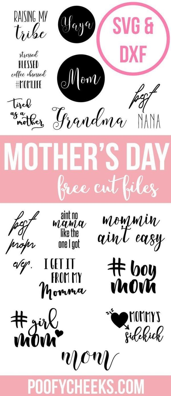 Download these free SVG and DXF cut files to use with your Cricut or Silhouette in time for Mother's Day. by penelope