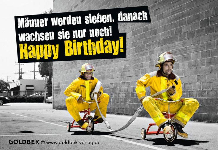 Postkarten - Geburtstag Humor. Männer werden sieben, danach wachsen sie nur noch!