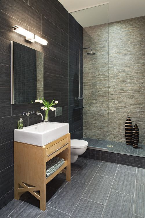 Mix and Matched Tiles Contemporary Shower Tiles Ideas