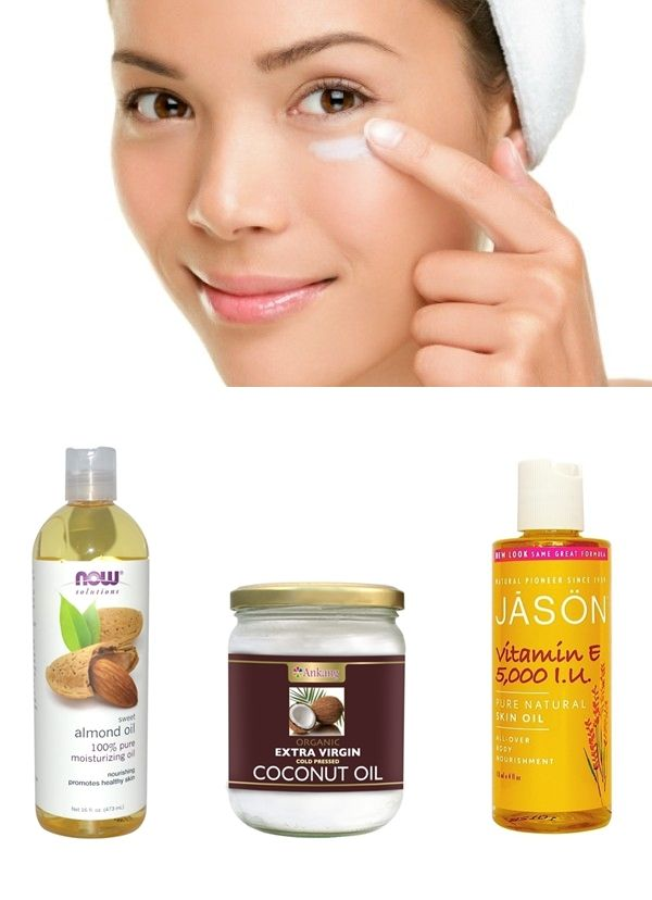 DIY night eye cream: Pure Coconut oil (moisturiser), Pure Sweet almond oil (lightens dark circles), 100% Vitamin E Oil (rich in antioxidants), helps to lighten the skin, reduces fine lines and wrinkles. I have been doing this and it really works...