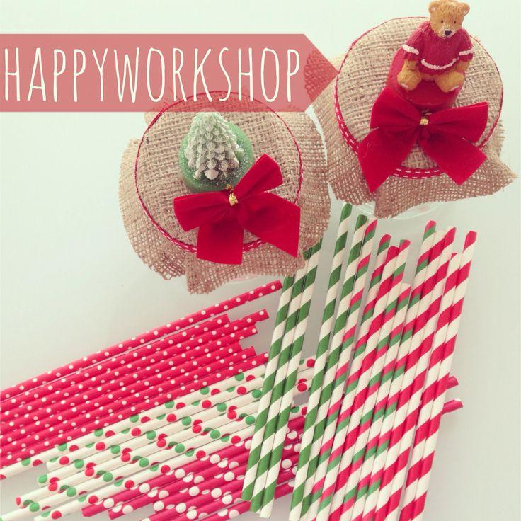 Christmas paper straws and jars