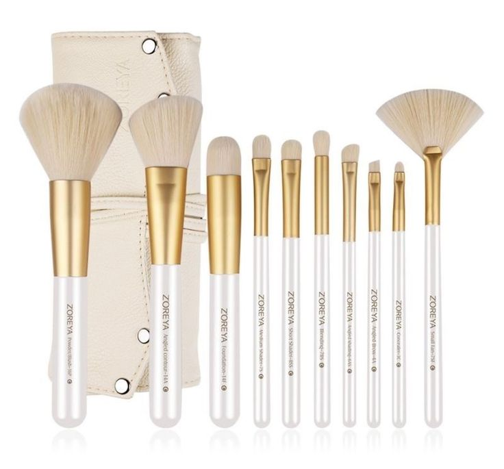 As Spectrum 10 piece Makeup Brushes Gold Professional Makeup Thick Brush Set NEW #makeup #makeupartist #makeuptools #MakeupBrushesTools #makeupbrushsetskits #makeupbrush #brushes #beauty #womenstyle #womenfashion