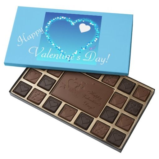 Blue Sparkly Heart Valentine's  Day Box of Belgium Chocolates by #MoonDreamsMusic #BoxOfChocolates #BelgiumChocolates #BlueHeart #BabyBoy #ValentinesDay