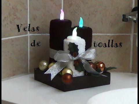 Como decorar las toallas de baño para navidad, fácil, sencillo y diferente! (2) - YouTube