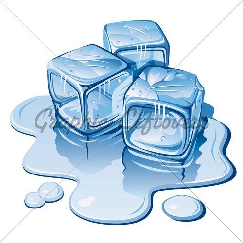 ice cube melting -