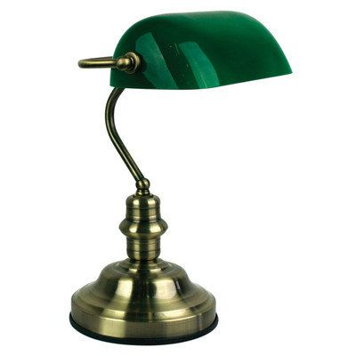 Bankers brass desk lamp