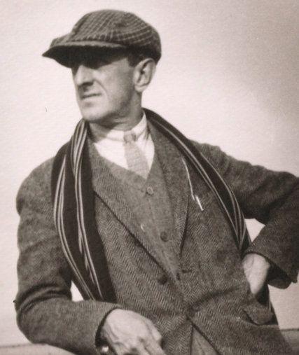 Marsden Hartley in 1912 aboard a ship.